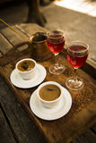 Turkish coffee serve Stock Images