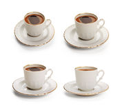 Turkish coffee set with clipping path Stock Photography
