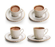 Turkish coffee set with clipping path Royalty Free Stock Photo