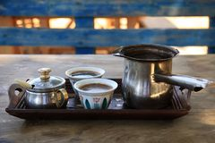 Turkish Coffee Setting in Lebanon royalty free stock images