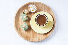 Turkish coffee with spring style Stock Images