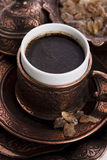 Turkish coffee. With sugar, traditional cup Royalty Free Stock Photos