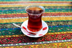 Turkish Coffee and tea. Preparation and presentation Royalty Free Stock Image