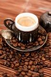 Turkish coffee. Traditional cup of turkish coffee Stock Photos