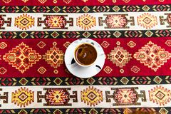 Turkish coffee. Traditional Turkish Coffee cup, Turkish coffee in a cafe Royalty Free Stock Photos
