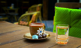 Turkish Coffee. A Traditional Coffee style a little Arabic and a little turkish orient Stock Images