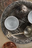 Turkish coffee tray Stock Photo
