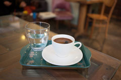 Turkish coffee on tray Stock Images
