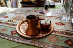 Traditional Bosnian coffee. Turecká Káva - Turkish coffee - Bosnian coffee Royalty Free Stock Photography