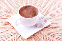Turkish coffee and turkish delight Royalty Free Stock Image