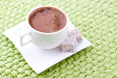 Turkish coffee and turkish delight Stock Images