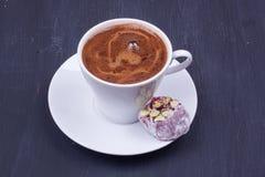 Turkish coffee and Turkish delight Stock Photos