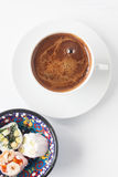 Turkish coffee and Turkish delight Royalty Free Stock Photo