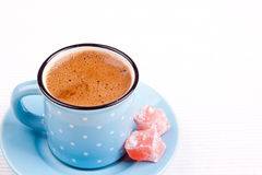 Turkish coffee and turkish delight Stock Photography