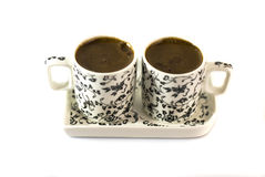 Turkish coffee in two cups Stock Image