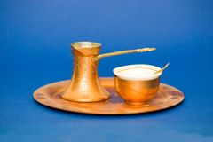 Turkish coffee utensils Stock Photography