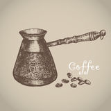 Turkish coffee. Vector illustration Royalty Free Stock Photo