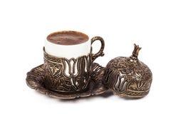 Turkish coffee on white background. Turkish coffee on white  background Royalty Free Stock Image
