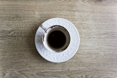 Turkish coffee. On wood background Royalty Free Stock Photography