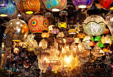 Turkish colorful lamps Stock Photography