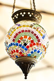 Turkish colorful mosaic lamps Royalty Free Stock Photos