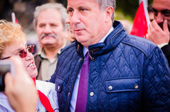 Turkish Congressman. A Turkish congressman named Muharrem Ince was visiting the little summer town I'm living named Cinarcik by the occasion of the day of ashura Royalty Free Stock Photography