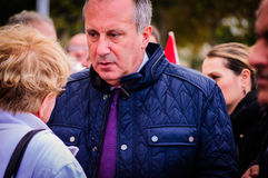 Turkish Congressman. A Turkish congressman named Muharrem Ince was visiting the little summer town I'm living named Cinarcik by the occasion of the day of ashura Stock Image