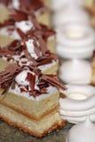 Turkish cookies with marshmallows. Turkish cookies with slices of chocolate with marshmallows close stock photography
