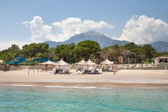 Turkish Cote d`Azur. Holiday in Kemer stock image