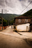 Turkish Countryside Village On Stormy Day Royalty Free Stock Images