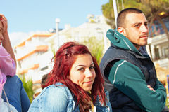 Turkish couple in Kusadasi Stock Images