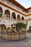 Turkish courtyard and fountain Stock Photography