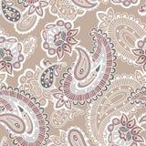 Turkish cucumber seamless pattern, beige style Stock Photography