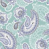 Turkish cucumber seamless pattern, blue style Stock Photo