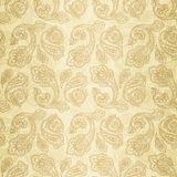 Turkish cucumber seamless pattern gold style Royalty Free Stock Photos