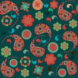 Turkish cucumber  seamless pattern and seamless pa Stock Photos