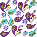 Turkish cucumber seamless pattern and seamless pattern in swatch Royalty Free Stock Photos