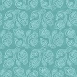 Turkish cucumber seamless pattern turquoise style Royalty Free Stock Photo