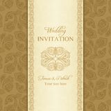 Turkish cucumber wedding invitation, gold Stock Photo