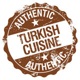 Turkish cuisine. Authentic Turkish cuisine themed rubber stamp Stock Photos
