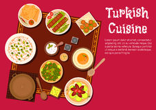 Turkish cuisine food and desserts Stock Photo