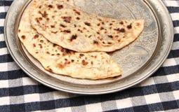 Turkish cuisine gozleme on a metal tray Royalty Free Stock Photo