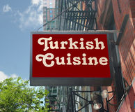 Turkish Cuisine Sign Royalty Free Stock Photos