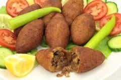 Turkish cuisine, stuffed meatballs with bulgur - ( icli kofte ) Stock Image