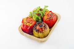 Turkish cuisine, Stuffed peppers in the oven Royalty Free Stock Photo