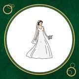 Turkish culture for Circle to White Bride vector illustration
