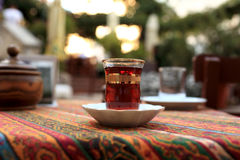 Turkish cup of tea Royalty Free Stock Photo