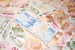 Turkish Currency Stock Photography