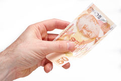 Turkish Currency Royalty Free Stock Photography