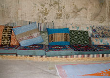 Turkish cushions Royalty Free Stock Photography